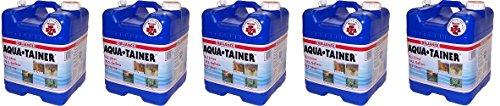 Reliance Products Aqua-Tainer 7 Gallon Rigid Water Container (5-PACK) by Reliance Products