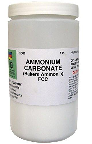 Baking Powder Leavening Agent - Ammonium Carbonate (Baker`s Ammonia), Food Grade, 1 lb