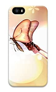 Butterfly Love 3D Case custom made iphone 5S case for Apple iPhone 5/5S