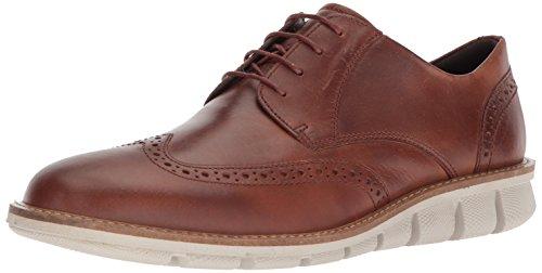 ECCO Men's Jeremy Hybrid Tie Oxford, Cognac Wingtip, 44 M EU (10-10.5 US) Ecco Comfort Shoes