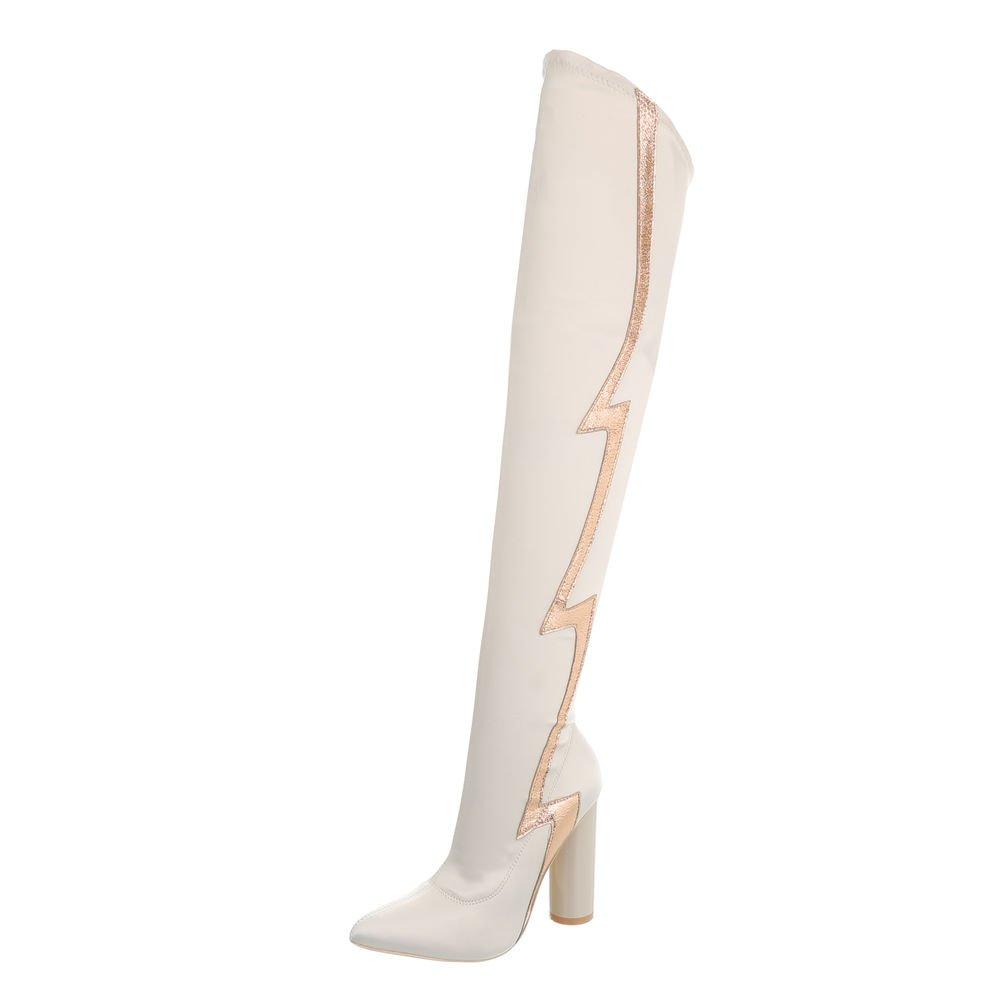 Ital-Design Chaussures Crème Femme Bottes B07H7ZJR7T et et Bottines Kitten-Heel Bottes Cuissardes Crème Jr-010 aa5d5f3 - latesttechnology.space