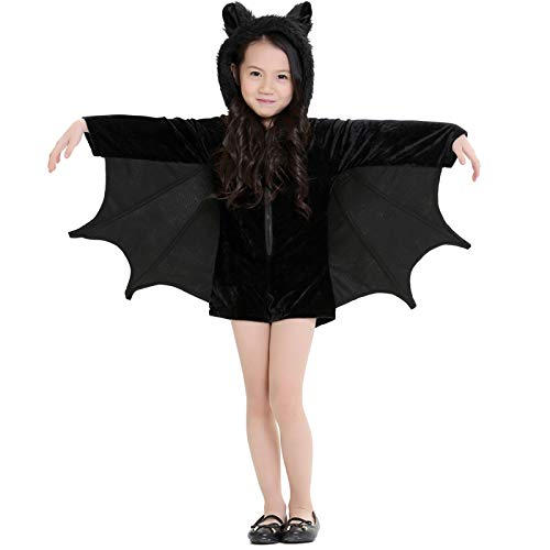 Seatment Halloween Decorations Halloween Costume Children and Women Bat Vampire Clothing Stage Performance Cosplay Clothing, Size:S, Bust: 82cm, Clothes Long: 62cm, Suggested Height:120-135cm Accessor