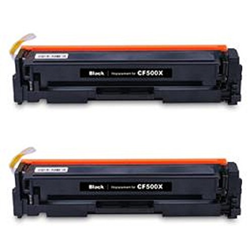 WOC: HP CF500X (202X) Compatible Replacement Jumbo (129% Higher Yield) Toner Cartridges 2-Pack (2x - Replacement 129