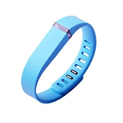 Best_Express Set 1pc Small S Replacement Band with Clasp for Fitbit FLEX Only /No tracker/ Wireless Activity Bracelet Sport Wristband Fit Bit Flex Bracelet Sport Arm Band Armband (Sky Blue)