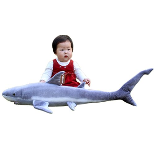 Jesonn  Realistic Giant Stuffed Marine Animals Toys Soft Plush Great Shark 33 5  Or 85Cm 1Pc