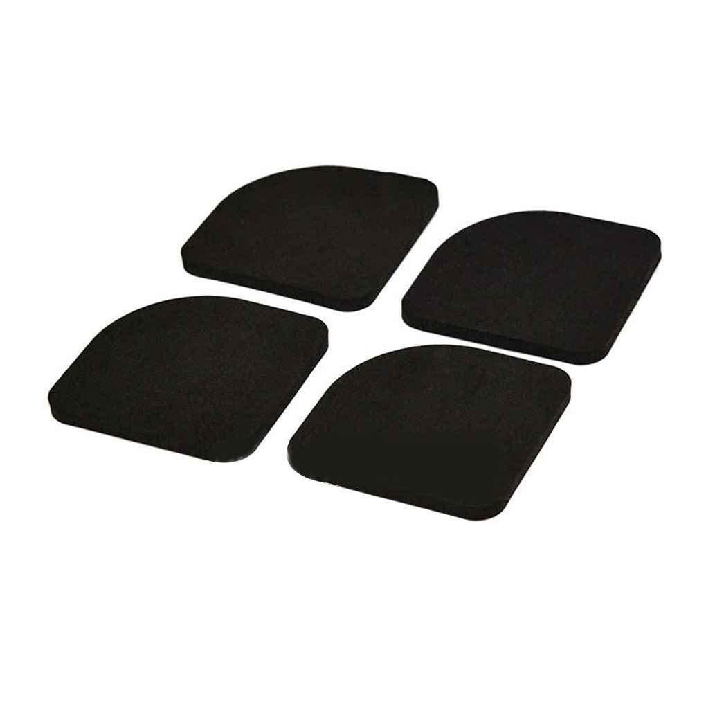 OmkuwlQ 4PCS Black EVA Multifunctional Washing Machine Anti-Shock Pads Non-Slip Refrigerator Mute Pad