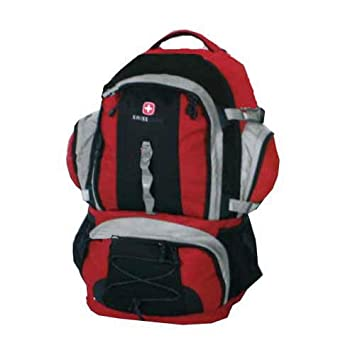 Amazon.com : Swiss Gear Internal Frame Backpack - Red : Sports ...