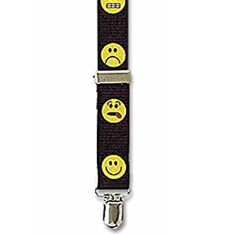 Suspender Factory Smiley Face 1 Inch Clip Suspenders - Assorted Faces