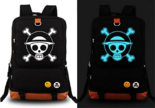 Siawasey Anime One Piece Cosplay Luminous Daypack Messenger Bag Backpack School Bag