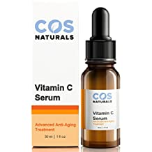 BEST VITAMIN C SERUM 20% DERMATOLOGIST RECOMMENDED Clinical Strength Vitamin C B E Ferulic & Hyaluronic Acid Natural Organic Best Selling Advanced Anti Aging Face Skin Care Cream 1 OZ by COSNATURALS