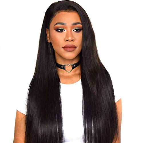 - Straight Human Hair Lace Front Wigs with Baby Hair 130% Density Brazilian Virgin Hair Wig 16 inch MSGEM Hair