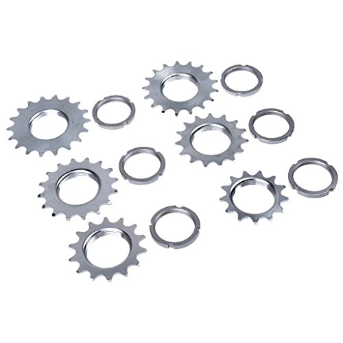haineg Single Speed Bicycle Freewheel Steel Bike Flywheel Sprocket Cog Fix Gear by haineg