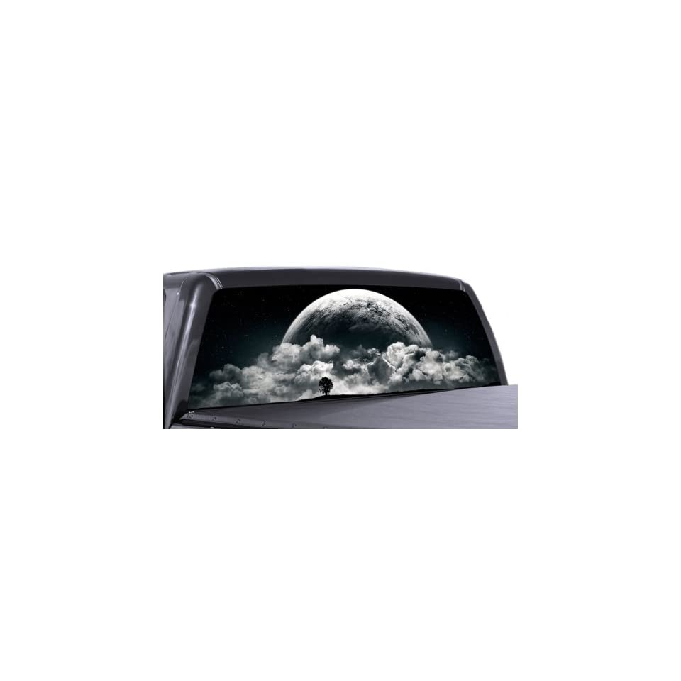 VuScapes   FULL MOON RISING   Rear Window Truck Graphic   decal suv view thru vinyl