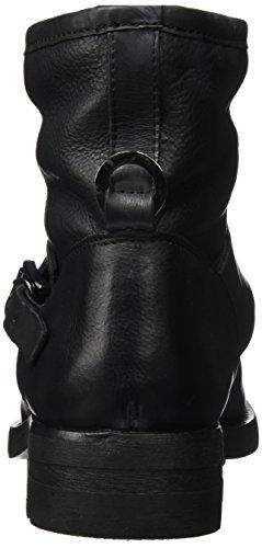 Hudson Londra Damen Mac Biker Boots Schwarz (nero)