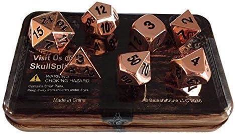 1x D6 und 1xD4. ✔ SET AUS 7 POLYEDRISCHEN W/ÜRFELN: Komplettes Set aus 7 bronzefarbenden W/ürfeln solides Metall Das Set besteht aus: 1x D20 1x D12 1x D8 2x D10 00-90 und 0-9