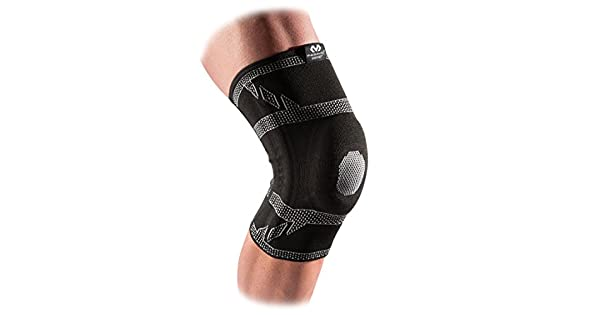 6aef7654d7 McDavid 5133 Elite Engineered Elastic™ Knee Sleeve with gel buttress and  stays with Compression Knee Support for Knee Pain Relief: Amazon.ae