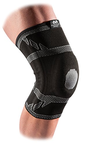 McDavid 5133 Elite Engineered Elastic Knee Sleeve with gel buttress and stays with Compression Knee Support for Knee Pain Relief