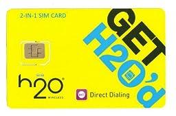 H2O Micro / Mini SIM Card for any Unlocked GSM Phone w/ $50 Airtime