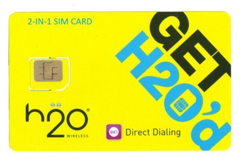 H2O Micro / Mini SIM Card for any Unlocked GSM Phone w/ $50 Airtime (H2o Wireless Airtime)