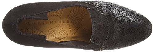 Chie Mihara osuna - zapatos de tacón cerrados de piel mujer negro - Schwarz (mad negro ante negro)