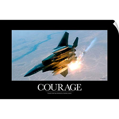 - CANVAS ON DEMAND Kate Lillyson Wall Peel Wall Art Print Entitled Military Poster: an F-15E Strike Eagle pops Flares During a Combat Sortie 18