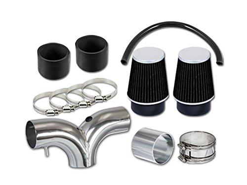 Velocity Concepts Black Dual Short Ram Air Intake Kit + Filter 04-08 Dodge Ram 1500 Durango 1500 5.7L HEMI V8
