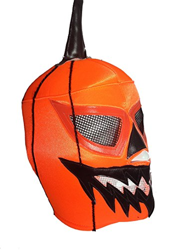 HALLOWEEN JACK O LANTERN Lucha Libre Wrestling Mask (pro-fit) Costume Wear - (Quick And Inexpensive Halloween Costume Ideas)