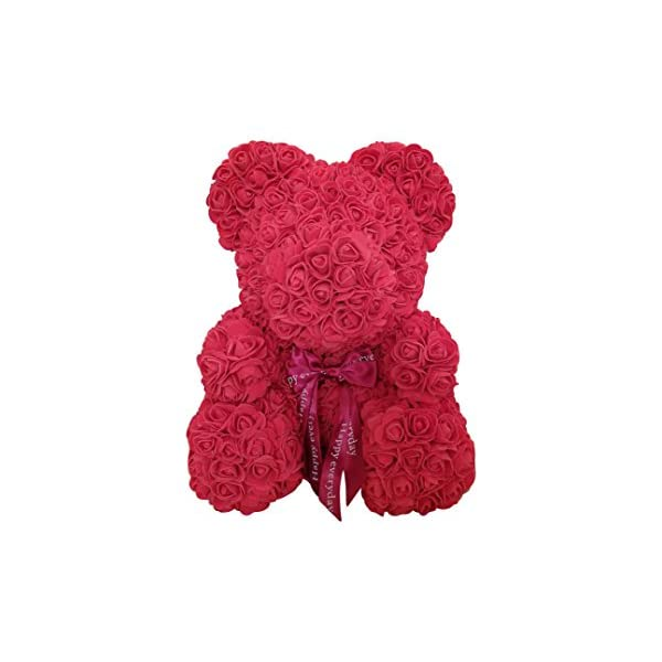 tigerlee. Teddy Bear Rose Bear Artificial Rose Bear Cub, Forever Rose Everlasting Flower for Window Display, Anniversary Christmas Valentines Gift by Longshow