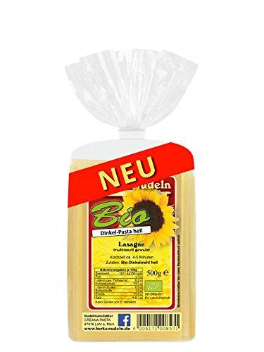 Burk's Bio Dinkel-hell Lasagne - gewalzte Pasta ohne Ei (500 g)
