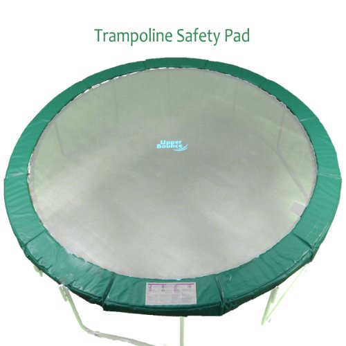 Upper Bounce Super Trampoline Safety Pad (Spring Cover) Fits for 14-Feet Round 10-Inch Wide Trampoline Frames, Green by Upper Bounce (Image #1)
