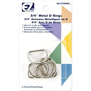 Wrights 37D-N Metal D-Rings, 3/4-Inch, Nickel