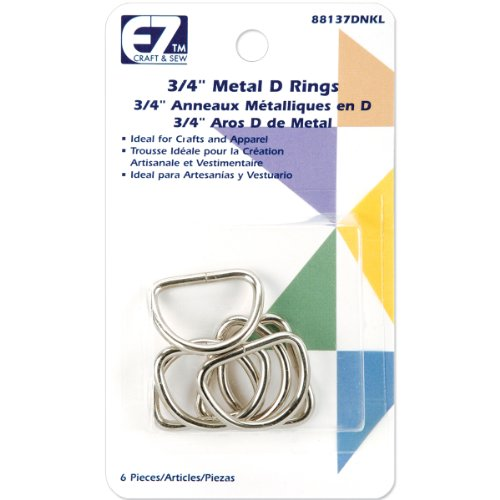 Wrights 37D-N Metal D-Rings, 3/4-Inch, Nickel Nickel Metal Rings