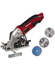 Einhell Mini-cirkelsåg TC-CS 860 Kit (450 W, max 23 mm, sågklinga Ø 85 mm, sugadapter, rivstängsel, 2 sågklingor, 1 diamantskapskiva, fodral)