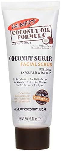 Palmer's Coconut Oil Formula Coconut Sugar Facial Scrub Exfoliator | 3.17 Ounces