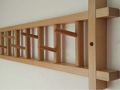 PLLP Colgadores de pared para el hogar, ropa de madera ...