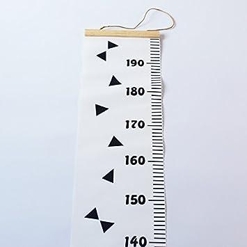 20 cm Tabla de Crecimiento Ni/ños Estilo Minimalista N/órdico para Decoraciar Habitaci/ón Infantil MaJia Gr/áficos de Crecimiento para Colgar en Pared 200