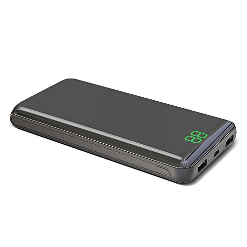 X-DRAGON Power Bank 24000mAh Portable Charger Dual 2A Input(Micro USB & Type-c), Dual 2.4A Output External Battery Charger with Mirror Surface, Digi-Power Display for iPhone, iPad, Samsung Cell Phones -
