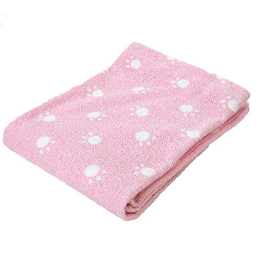 [해외]모 포 싱글 사이즈 140 * 190cm 강아지 발자국 무늬 (217S02-PI) / Towel Ket Single Size 140×190cm Dog Footprint Pattern (217S02-PI)