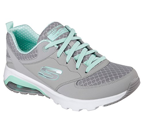 Skechers, Donna, Skech Air, Pelle, Sneakers, Grigio