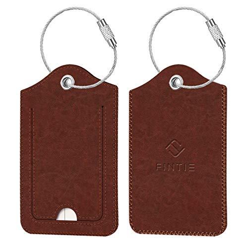 2 identificadores para valija equipaje mochila marron
