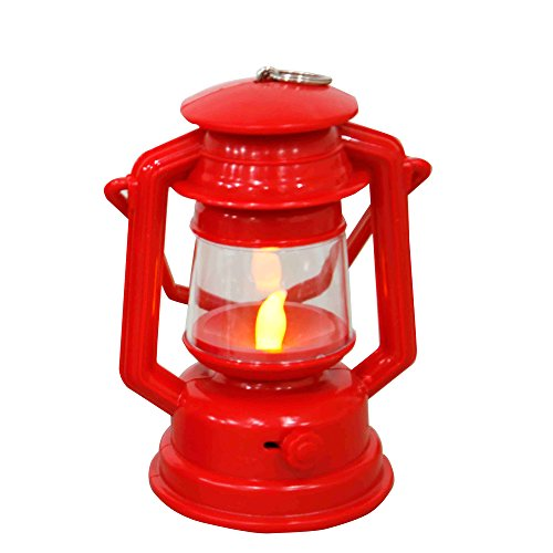 (YAKii Vintage Style Plastic LED Flameless Candle Lantern for Children, Red)
