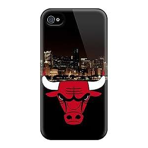 Apple Iphone 4/4s KCg25516nMtx Support Personal Customs Trendy Chicago Bulls Image Shock-Absorbing Hard Phone Cover -AshtonWells
