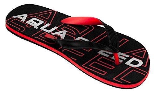 AQUA-SPEED® RODOS Chanclas (40-46 Hombres Playa) Farbe 31 / Schwarz - Rot