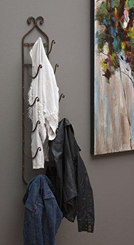 IMAX 9748 Rustic Towel/Wine Rack in Dark Brown