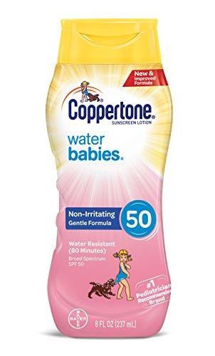 Coppertone WaterBabies Sunscreen Lotion Broad Spectrum SPF 50 (8-Fluid-Ounce)