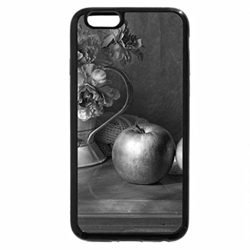 iPhone 6S Case, iPhone 6 Case (Black & White) - roses,lace and apples....