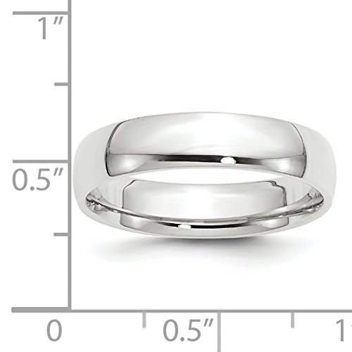 10k White Gold 5mm Engravable Comfort Fit Band