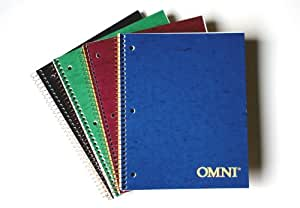 Norcom Omni Assignment Book, 7 x 5 Inch, 1 Book, Assorted Colors (77316-12)
