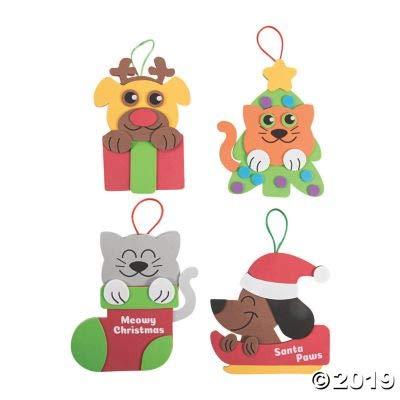 Craft Kits Fun Express Christmas PET Ornament CK-12 12 Pieces