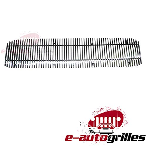 EAG Vertical 1PC 4mm Cutout Billet Grille for 94-97 GMC Sonoma ()